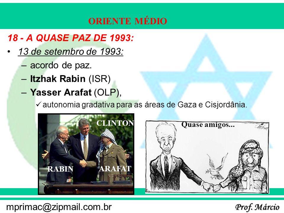 18 - A QUASE PAZ DE 1993: 13 de setembro de 1993: acordo de paz.