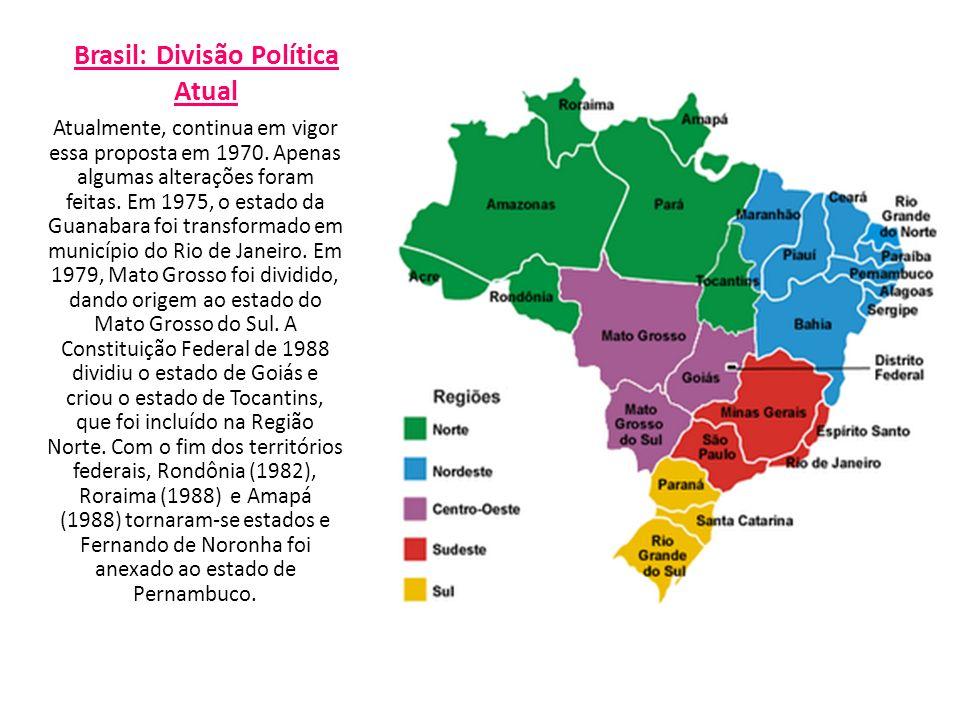Brasil: Divisão Política Atual