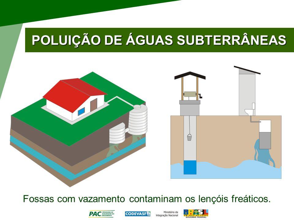 POLUIÇÃO DE ÁGUAS SUBTERRÂNEAS