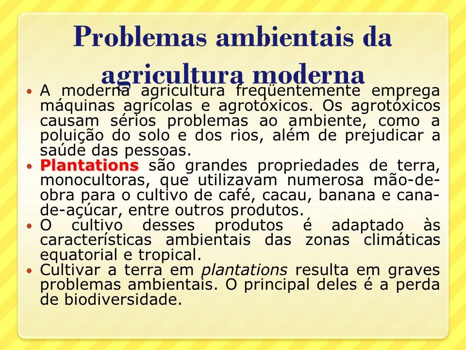 Problemas ambientais da agricultura moderna