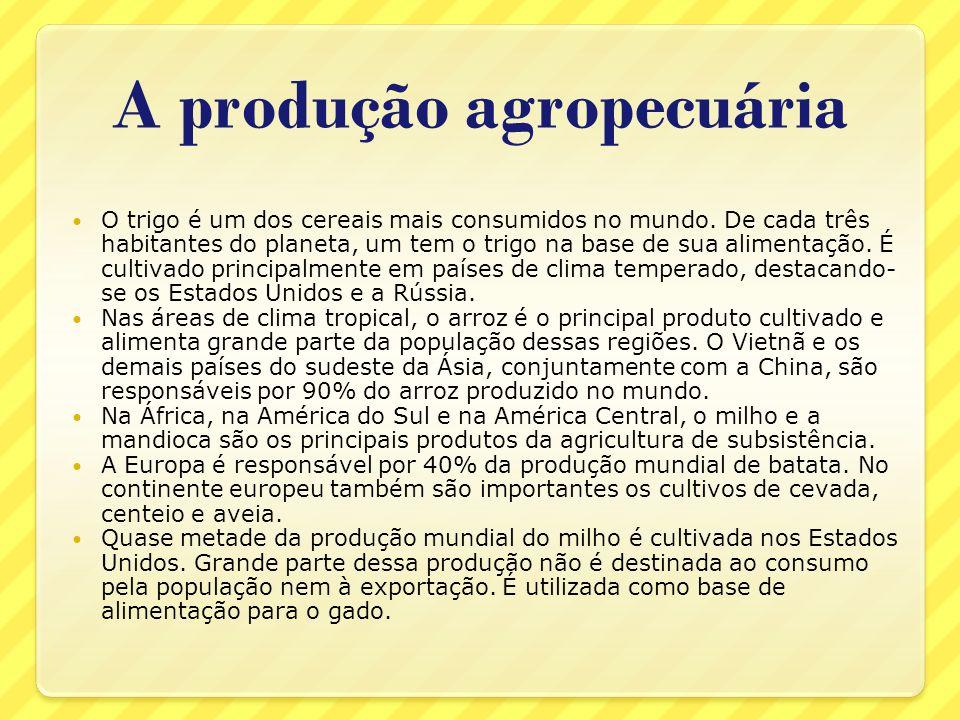 A produção agropecuária