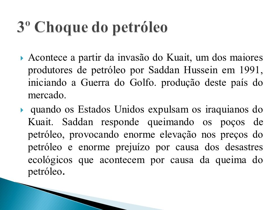 3º Choque do petróleo