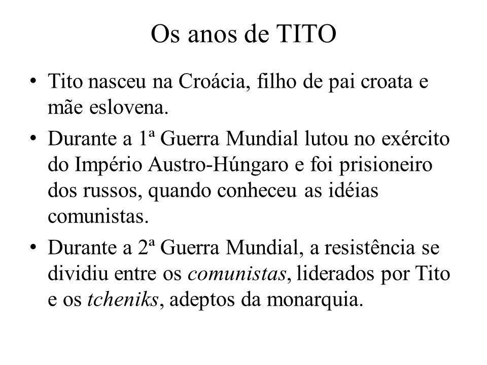 Os anos de TITOTito nasceu na Croácia, filho de pai croata e mãe eslovena.