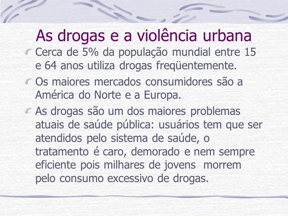 As drogas e a violência urbana
