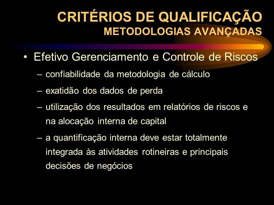 CRITÉRIOS DE QUALIFICAÇÃO METODOLOGIAS AVANÇADAS