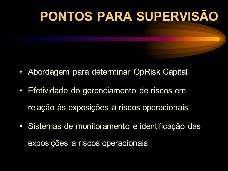 PONTOS PARA SUPERVISÃO