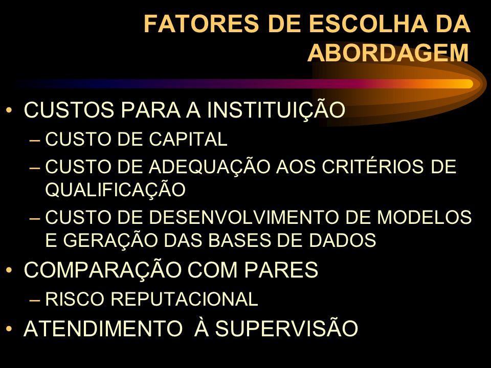 FATORES DE ESCOLHA DA ABORDAGEM