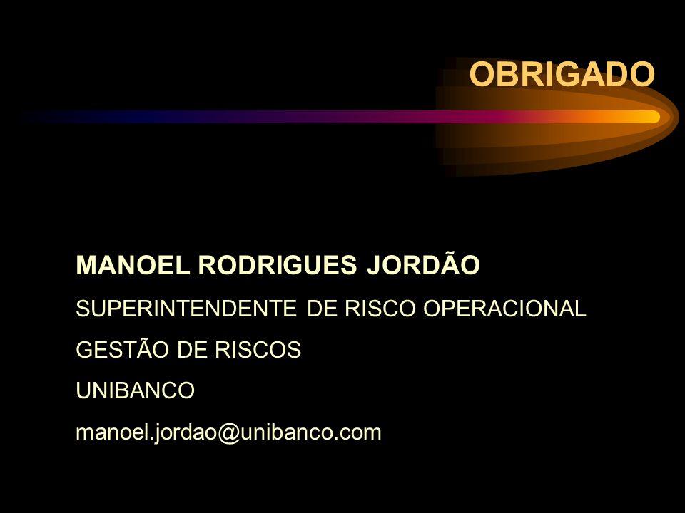 OBRIGADO MANOEL RODRIGUES JORDÃO SUPERINTENDENTE DE RISCO OPERACIONAL