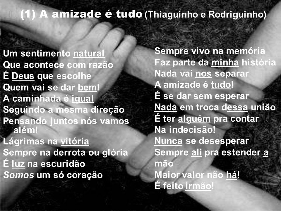 (1) A amizade é tudo (Thiaguinho e Rodriguinho)