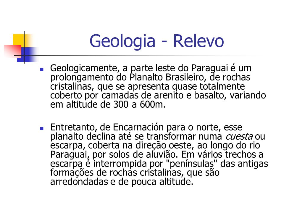 Geologia - Relevo