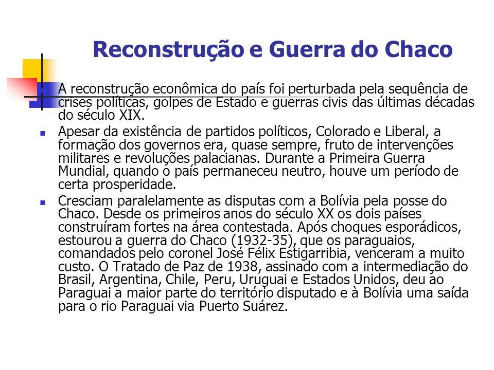 Reconstrução e Guerra do Chaco