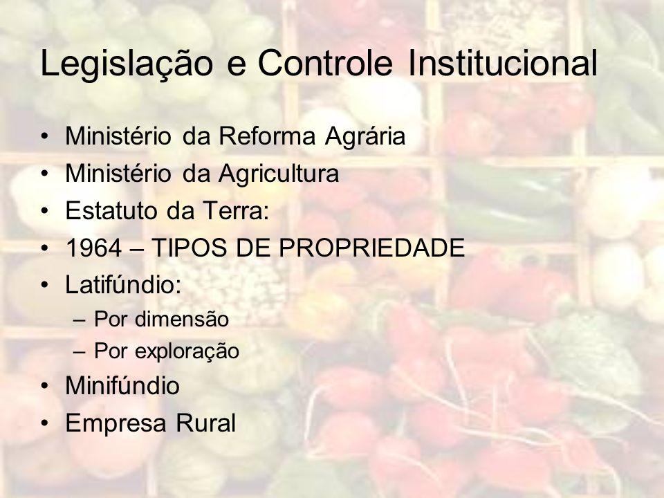 Legislação e Controle Institucional