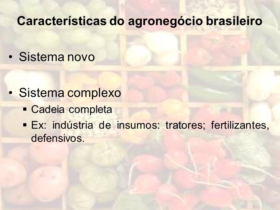 Características do agronegócio brasileiro