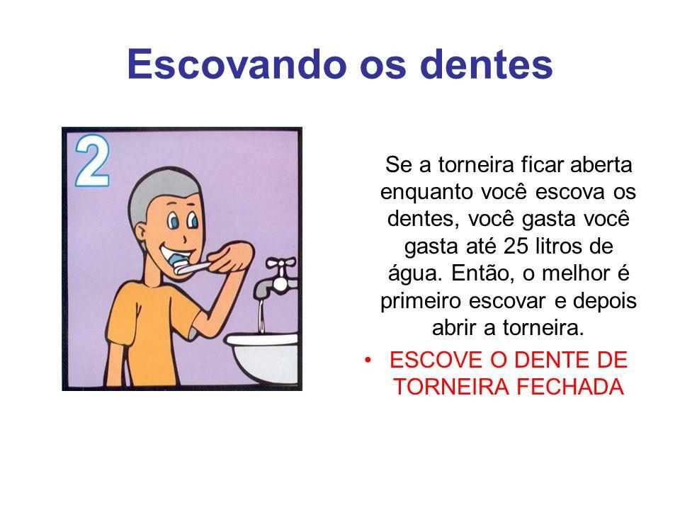 ESCOVE O DENTE DE TORNEIRA FECHADA