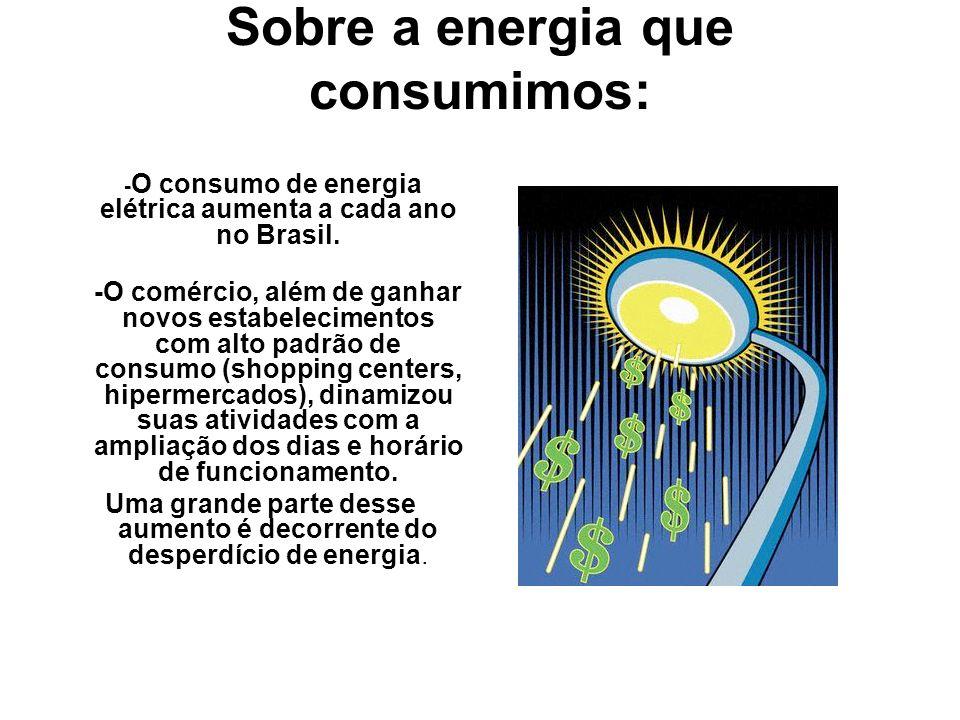 Sobre a energia que consumimos: