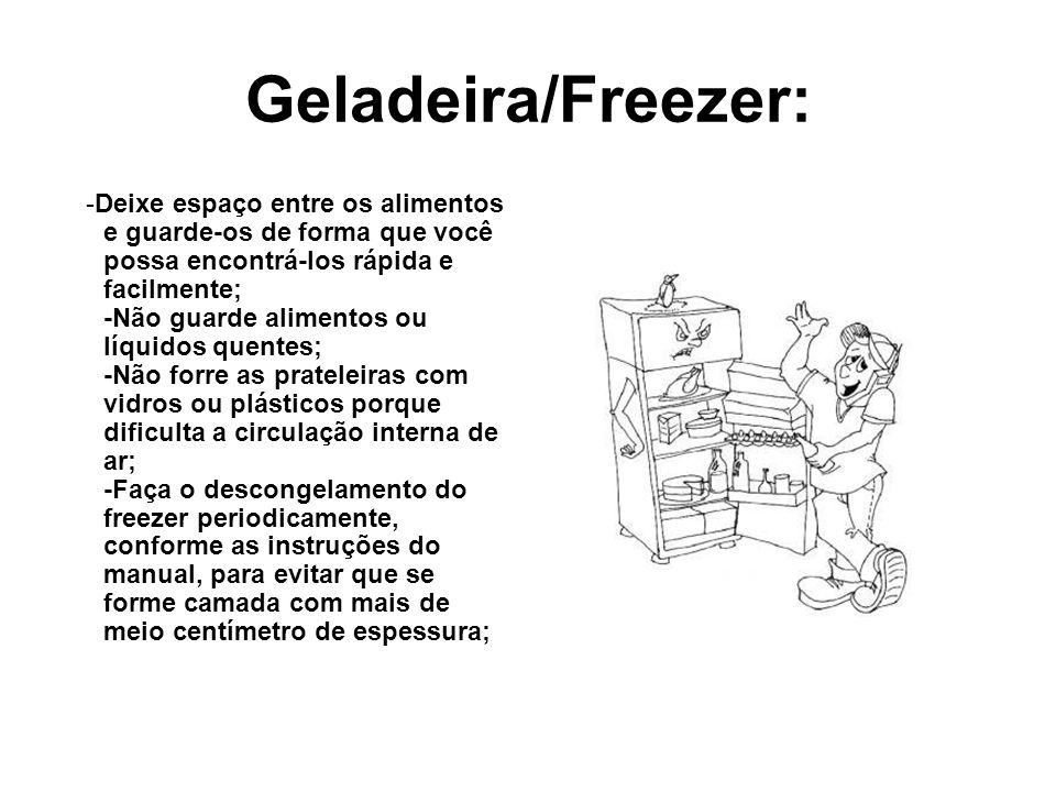 Geladeira/Freezer: