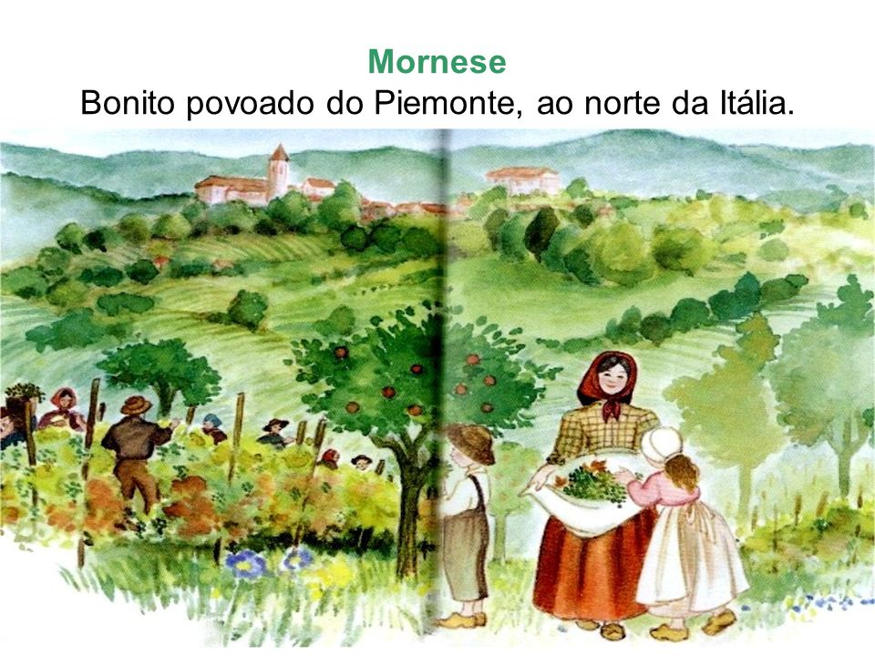 Mornese Bonito povoado do Piemonte, ao norte da Itália.