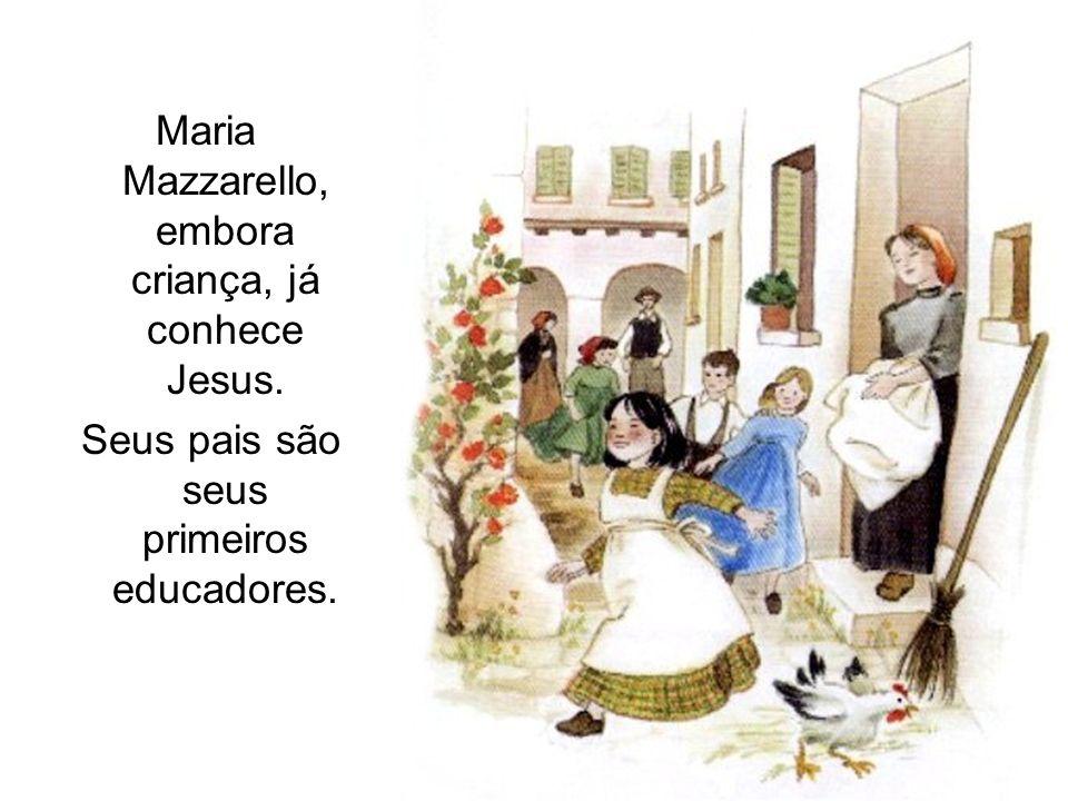 Maria Mazzarello, embora criança, já conhece Jesus.