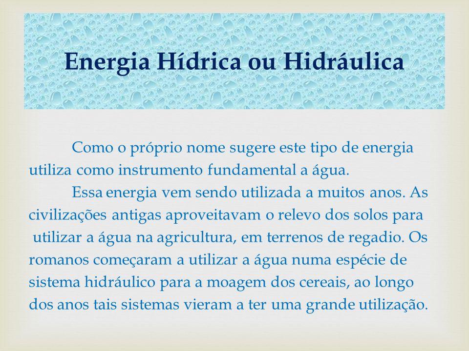 Energia Hídrica ou Hidráulica