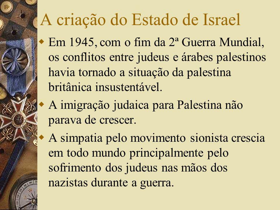 A criação do Estado de Israel