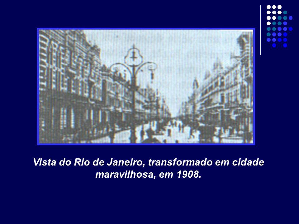 Vista do Rio de Janeiro, transformado em cidade maravilhosa, em 1908.
