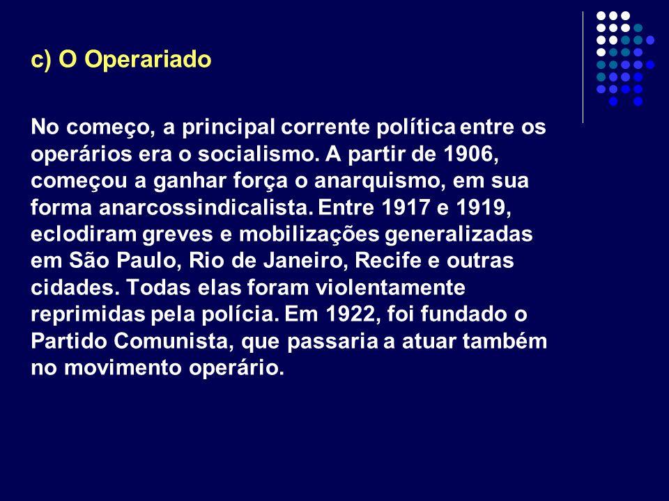 c) O Operariado