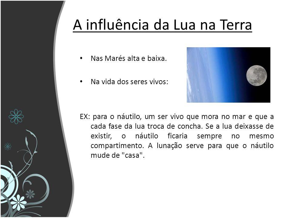 A influência da Lua na Terra