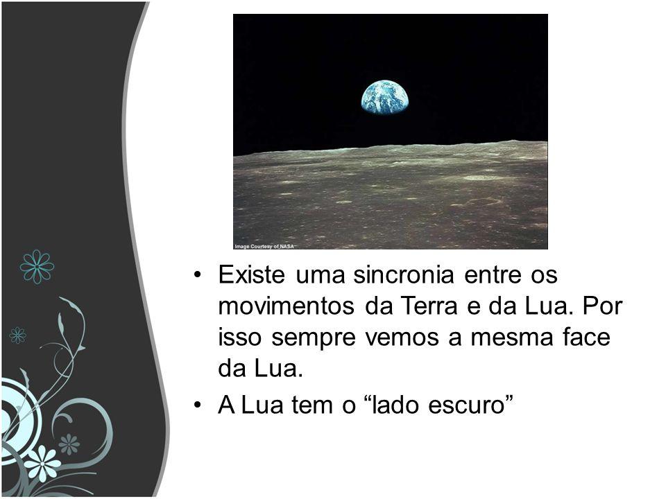 Existe uma sincronia entre os movimentos da Terra e da Lua