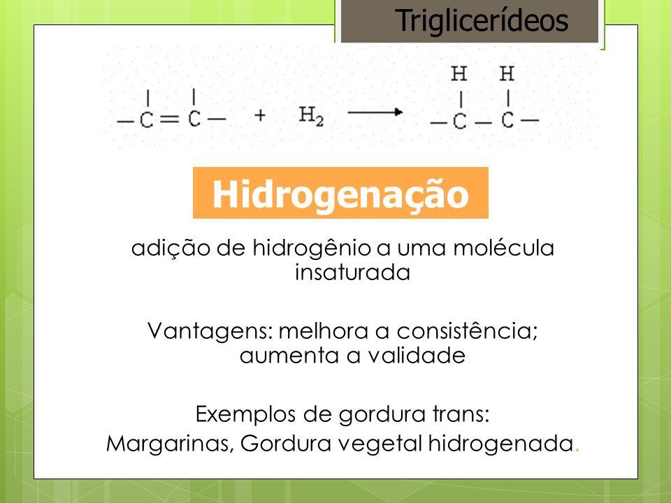 Hidrogenação Triglicerídeos
