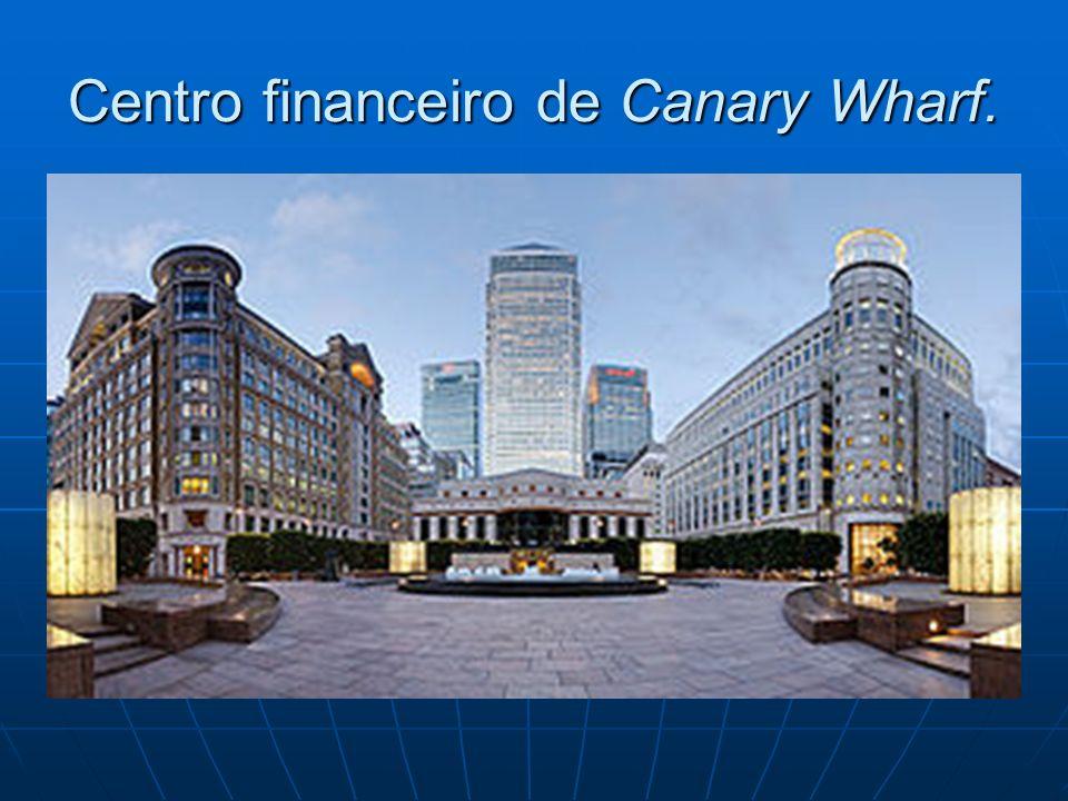 Centro financeiro de Canary Wharf.