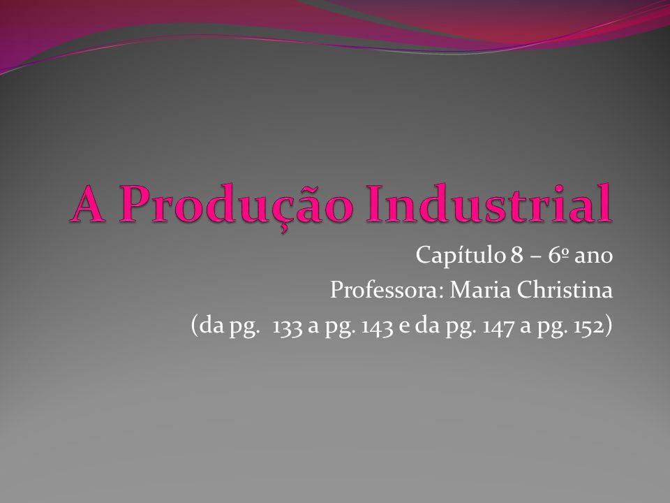 A Produção Industrial Capítulo 8 – 6º ano Professora: Maria Christina