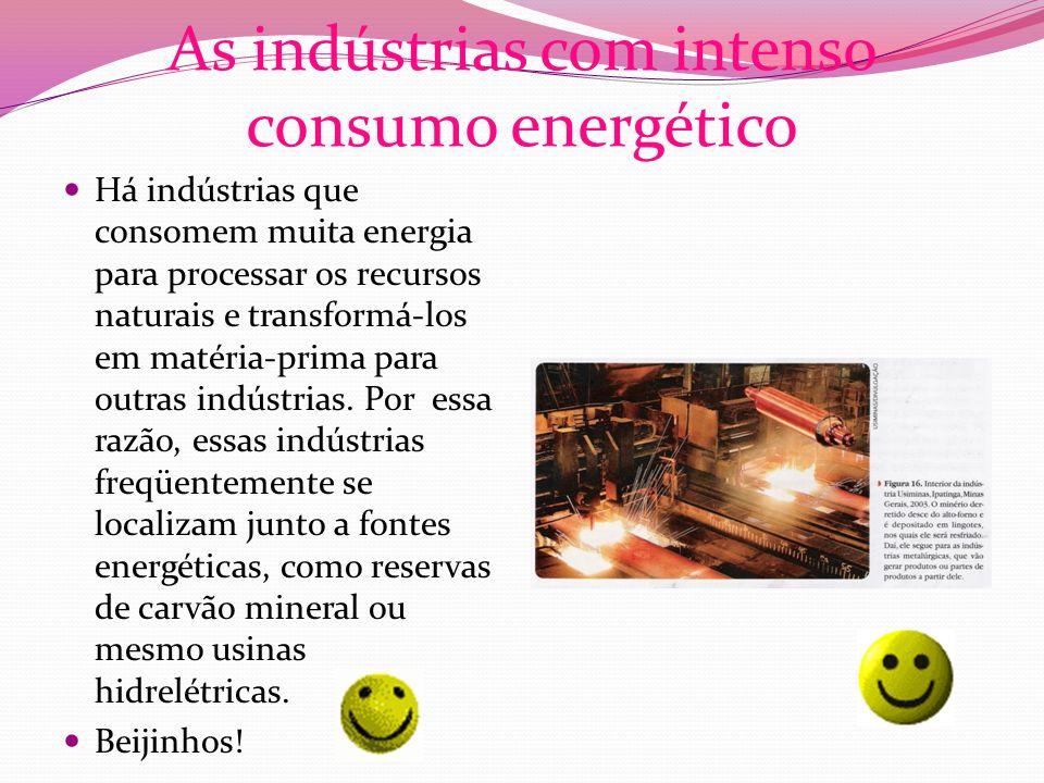 As indústrias com intenso consumo energético