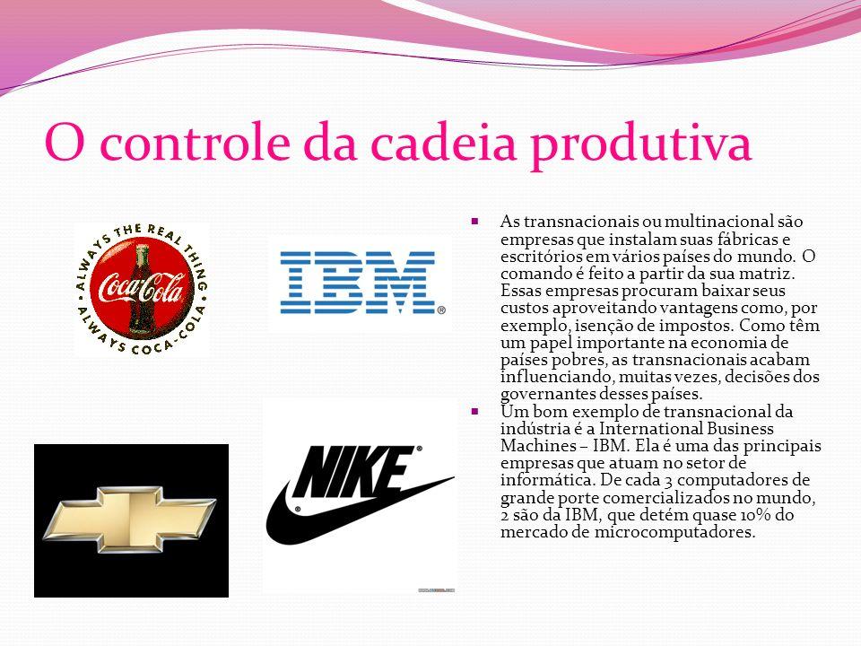 O controle da cadeia produtiva