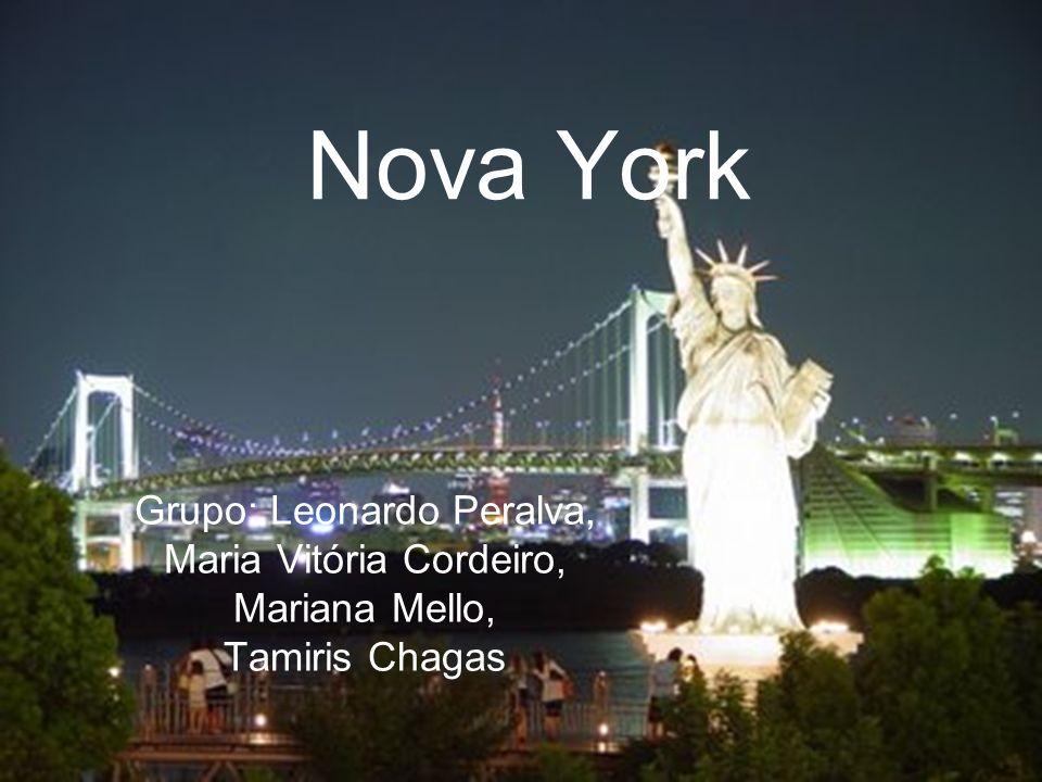 Nova York Grupo: Leonardo Peralva, Maria Vitória Cordeiro,