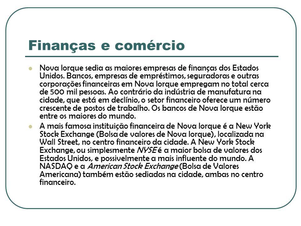 Finanças e comércio