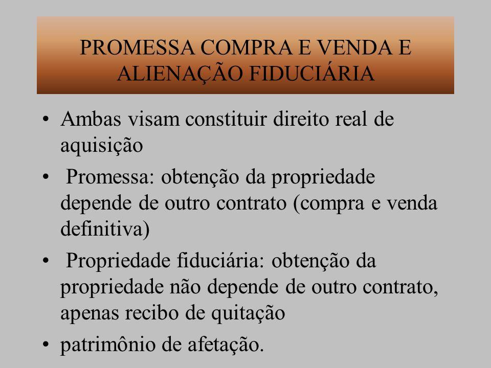 PROMESSA COMPRA E VENDA E ALIENAÇÃO FIDUCIÁRIA