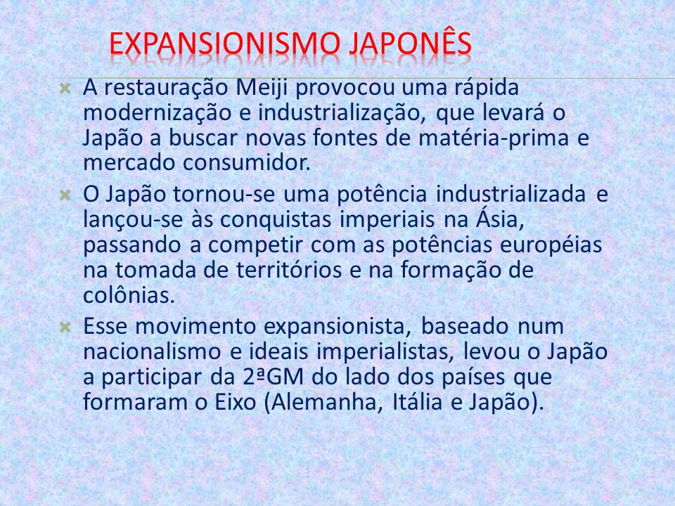Expansionismo japonês