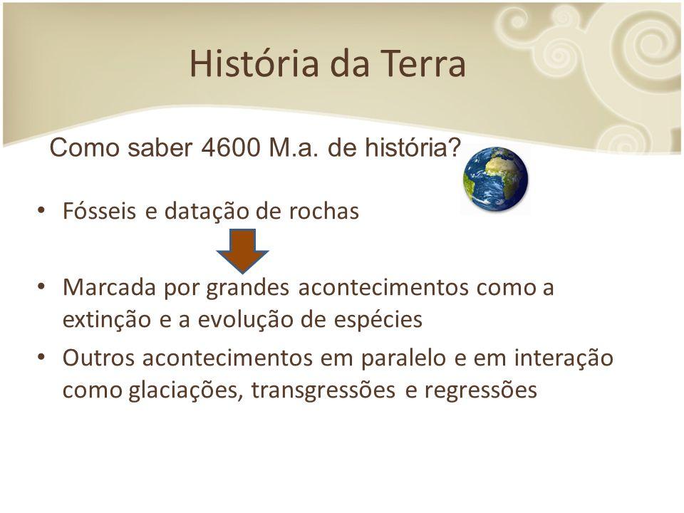 História da Terra Como saber 4600 M.a. de história