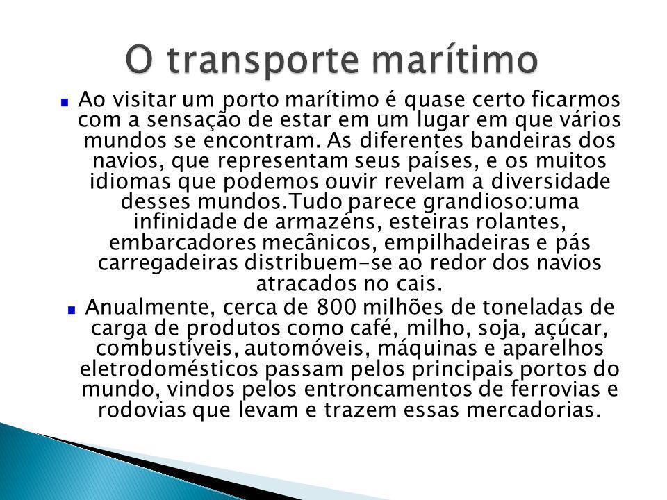 O transporte marítimo