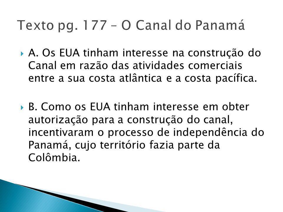 Texto pg. 177 – O Canal do Panamá