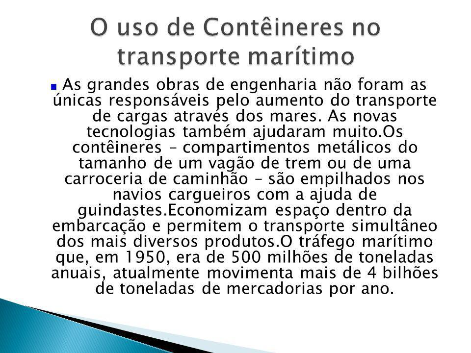 O uso de Contêineres no transporte marítimo
