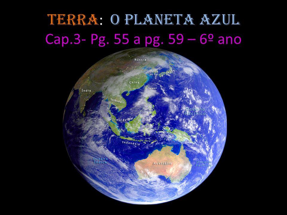 Terra: o planeta azul Cap.3- Pg. 55 a pg. 59 – 6º ano