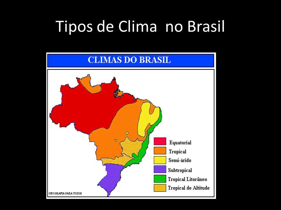 Tipos de Clima no Brasil