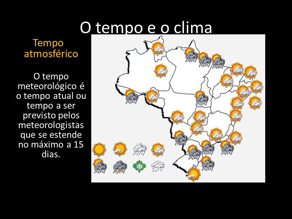 O tempo e o clima