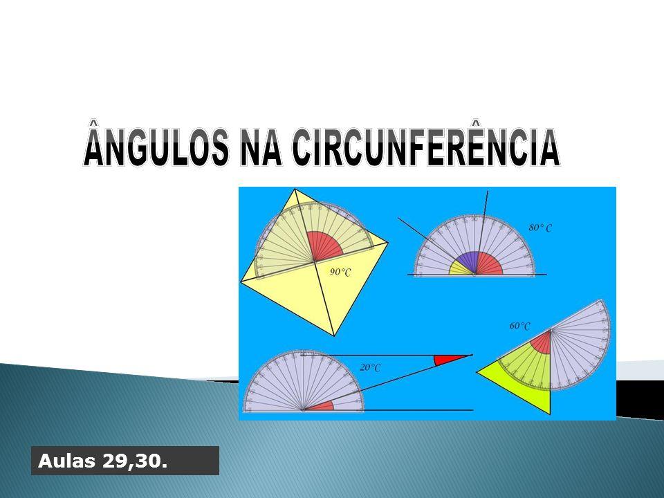 ÂNGULOS NA CIRCUNFERÊNCIA