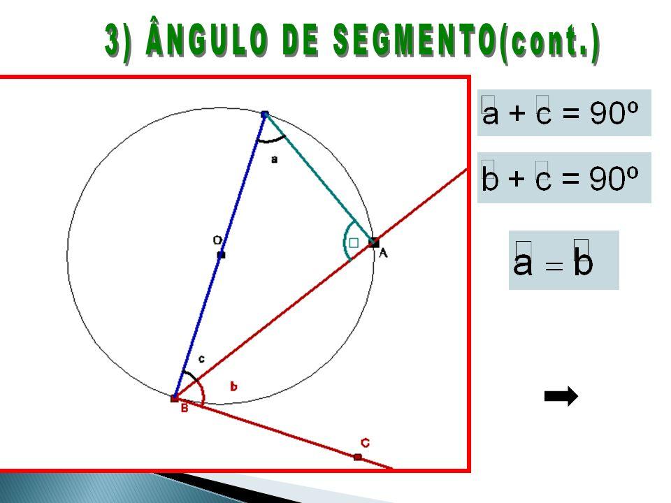 3) ÂNGULO DE SEGMENTO(cont.)