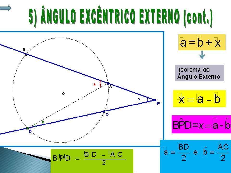 5) ÂNGULO EXCÊNTRICO EXTERNO (cont.)