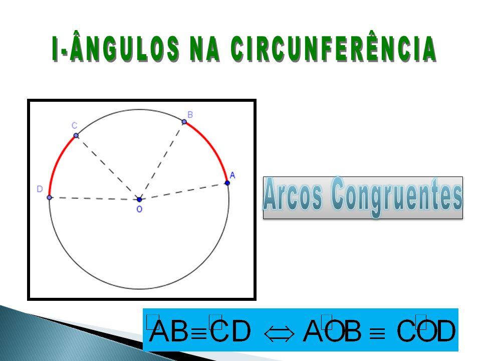 I-ÂNGULOS NA CIRCUNFERÊNCIA
