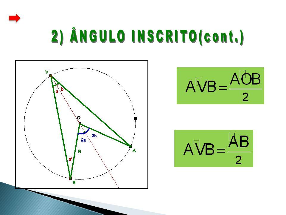 2) ÂNGULO INSCRITO(cont.)