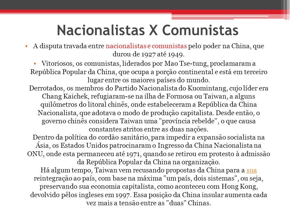 Nacionalistas X Comunistas